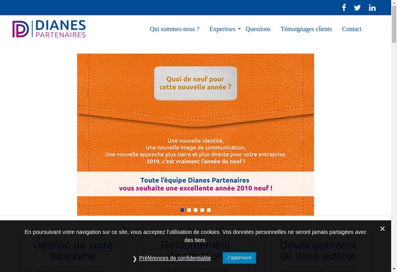 Capture d'écran du site de Dianes