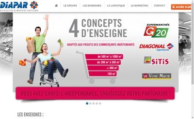Site internet de Distribution Alimentaire Parisienne