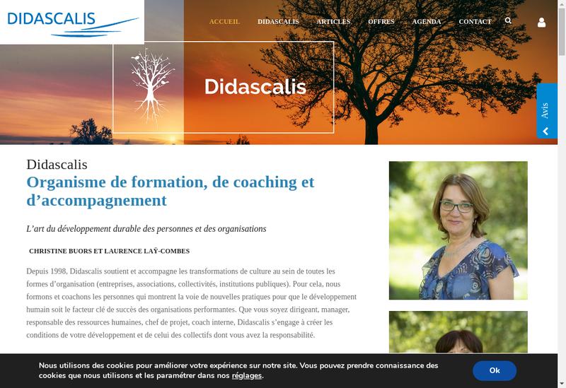 Capture d'écran du site de Didascalis