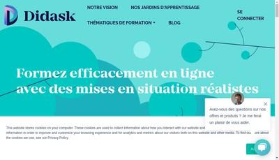 Site internet de Didask