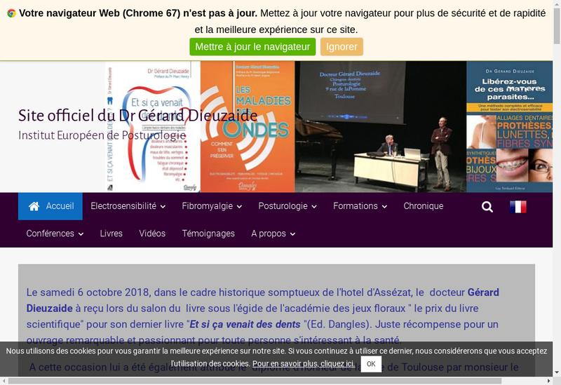 Capture d'écran du site de Gerard Dieuzaide