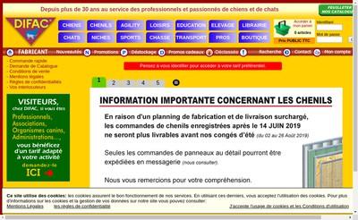 Site internet de Difac