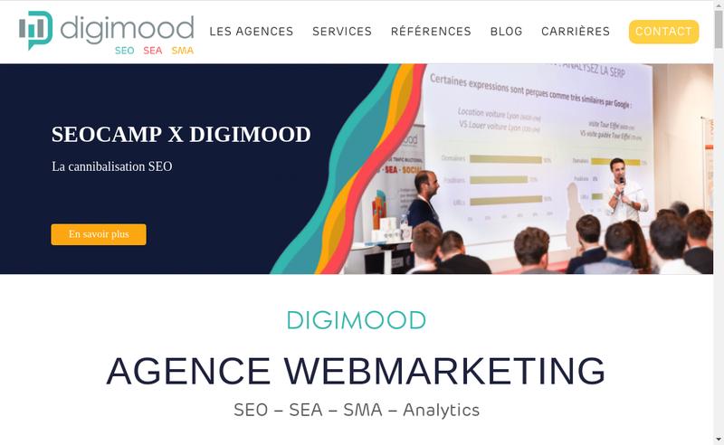 Capture d'écran du site de Digimood