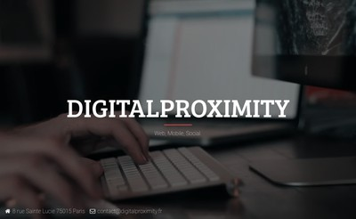 Site internet de Digitalproximity