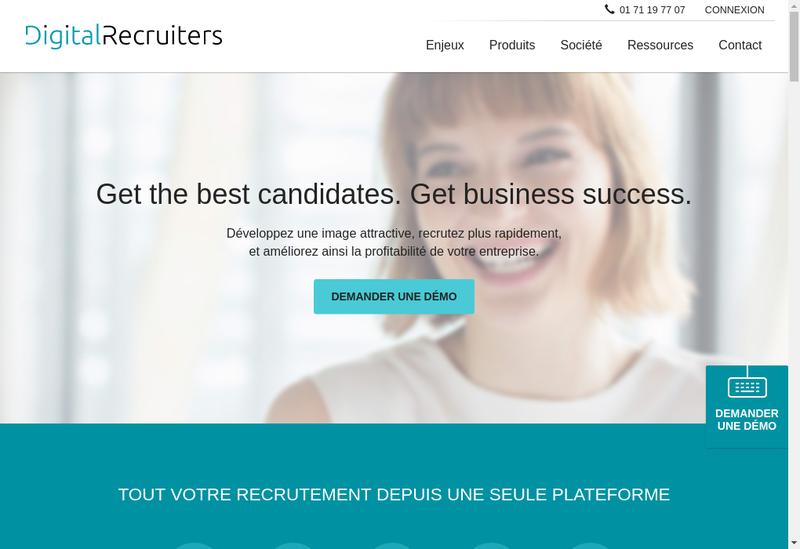 Capture d'écran du site de Digitalrecruiters