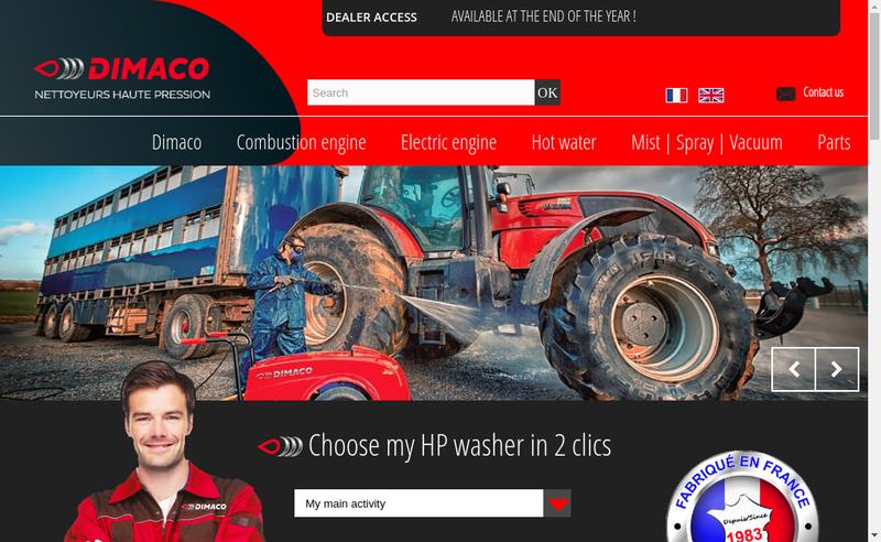 Capture d'écran du site de Dimacco