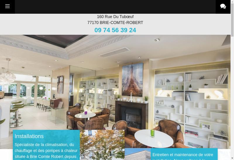 Capture d'écran du site de Dimecal SARL
