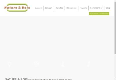 Site internet de Maison-Nature et Bois