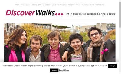 Site internet de Discover Walks