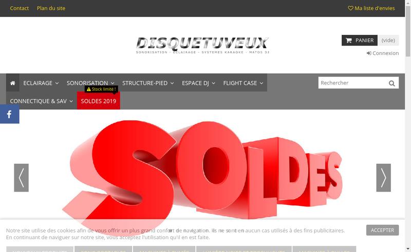 Capture d'écran du site de Disquetuveux