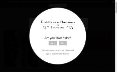 Site internet de Distileries-Provence
