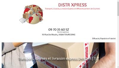 Site internet de Distr Xpress