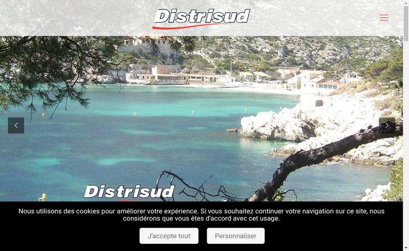 Capture d'écran du site de Distrisud