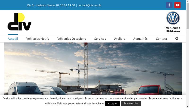 Capture d'écran du site de Volkswagen Utilitaires