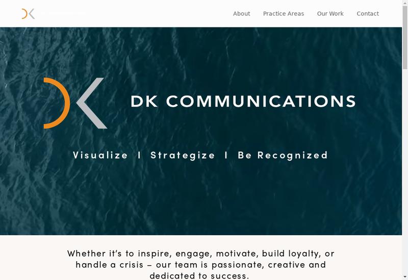 Capture d'écran du site de Dk7 Communications