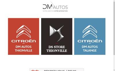Site internet de DM Autos