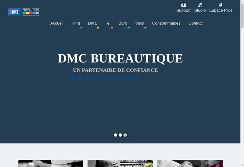 Capture d'écran du site de Dmc Bureautique