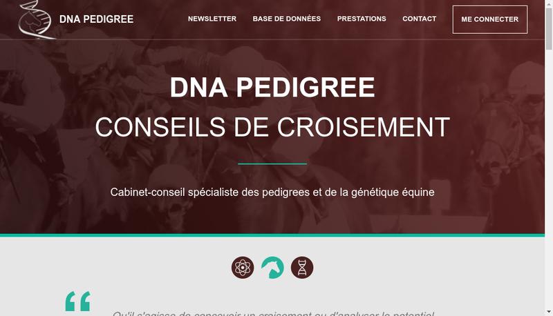 Capture d'écran du site de Dna Pedigree