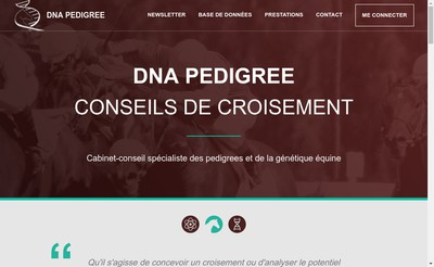 Site internet de Dna Pedigree