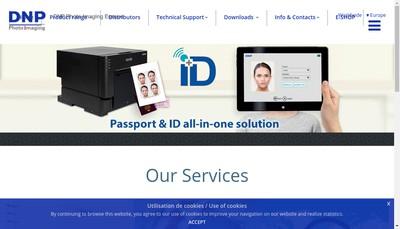 Site internet de Dnp Photo Imaging Europe