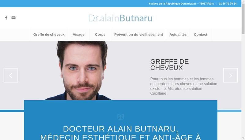 Capture d'écran du site de Alain Butnaru