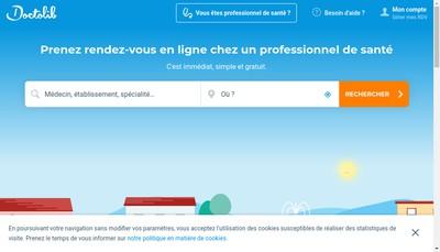 Site internet de Doctolib