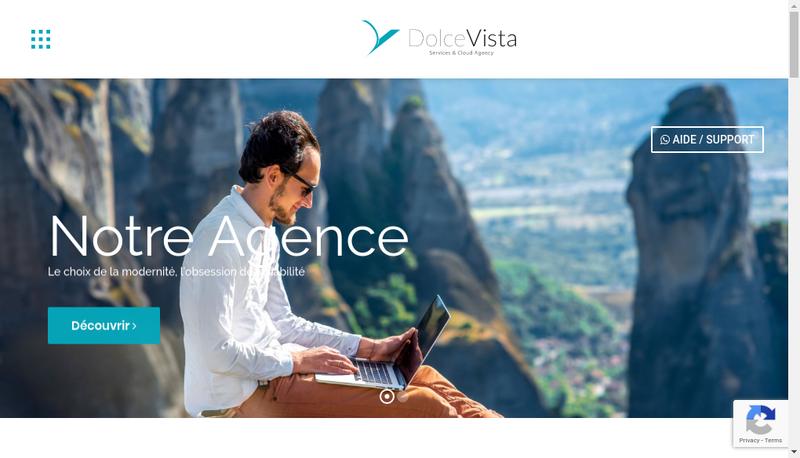 Capture d'écran du site de Dolce Vista
