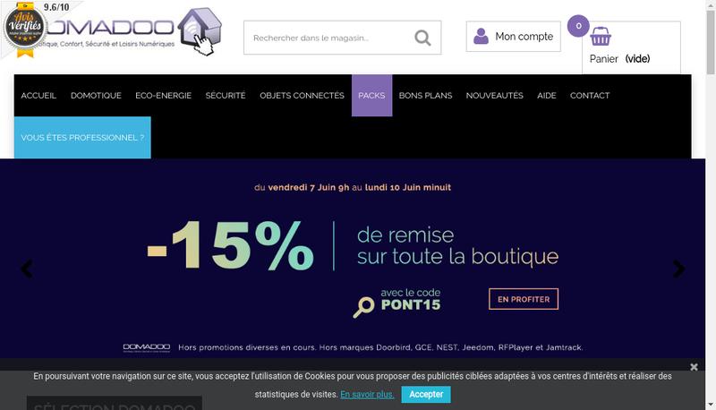 Capture d'écran du site de Domadoo
