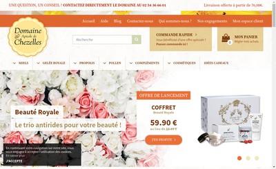 Site internet de Domaine Apicole de Chezelles