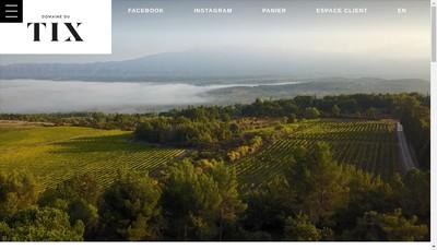 Site internet de Domaine du Tix