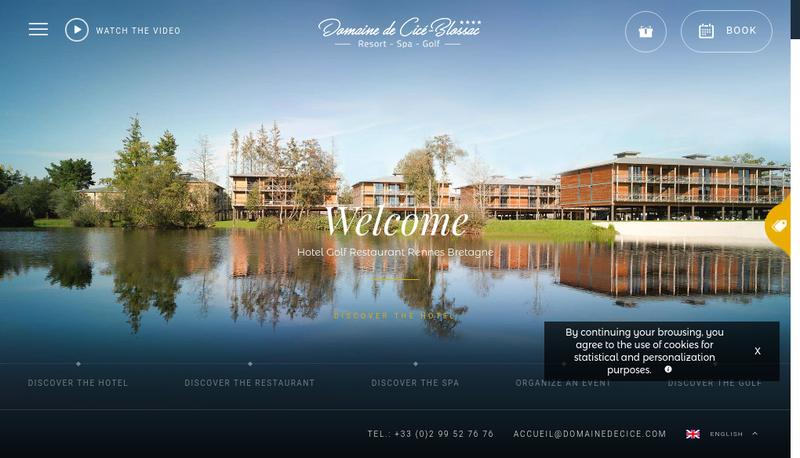 Capture d'écran du site de Domaine de Cicé-Blossac