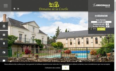Site internet de Domaine de la Courbe