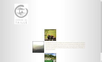 Site internet de Domaine du Taille