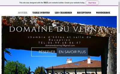 Site internet de Domaine du Vernay