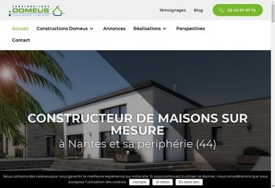 Site internet de Domeus Constructions