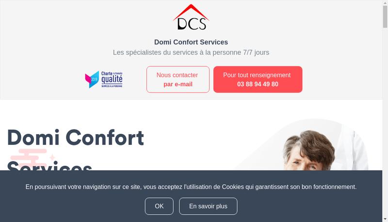 Capture d'écran du site de Domi-Confort-Services