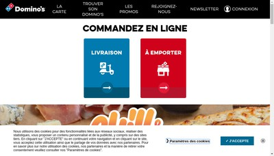 Site internet de Domino'S Pizza