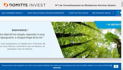 Site internet de Domitys Invest