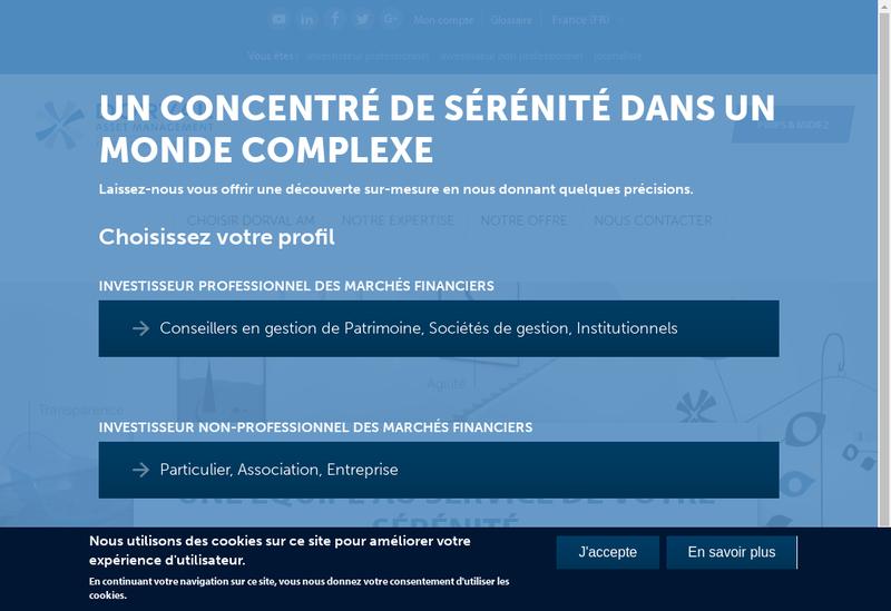 Capture d'écran du site de Dorval Am