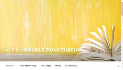 Site internet de Double Ponctuation