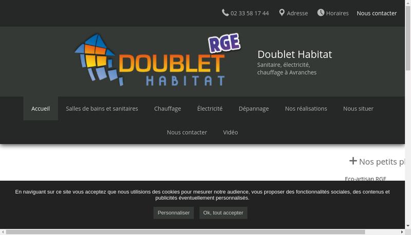 Capture d'écran du site de Doublet Habitat