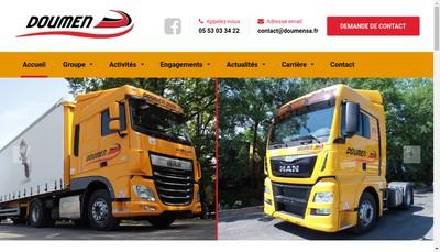 Site internet de Doumen SA Transport