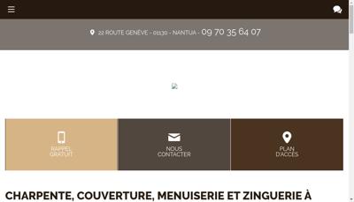 Capture d'écran du site de SARL Doy Freres