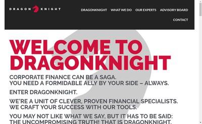 Site internet de Dragonknight Advisors