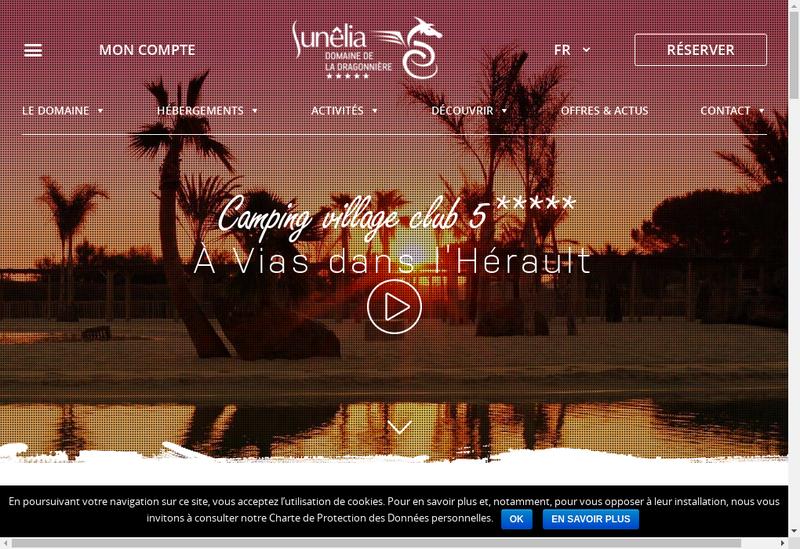 Capture d'écran du site de La Dragonniere