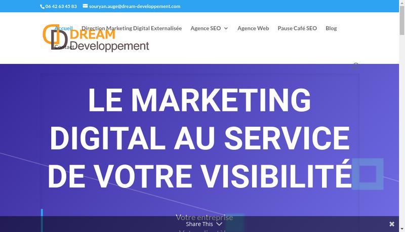 Capture d'écran du site de Dream Developpement