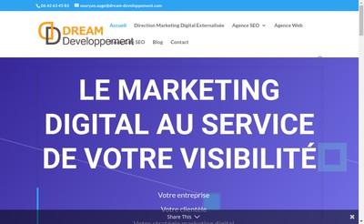 Site internet de Dream Developpement