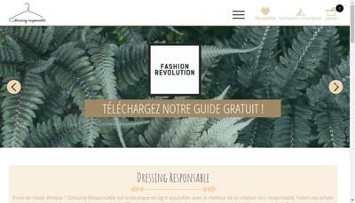 Site internet de Dressing Responsable