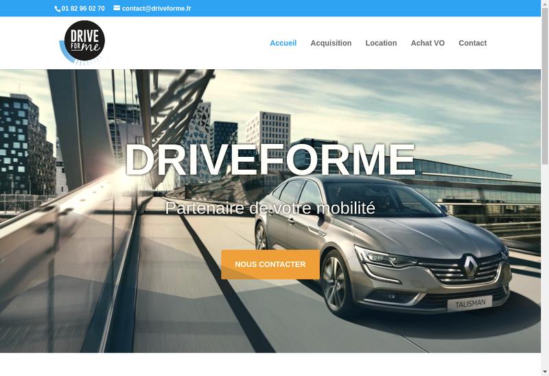 Capture d'écran du site de Driveforme