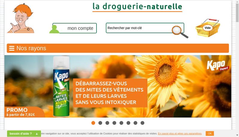 Capture d'écran du site de La Droguerie Strasbourgeoise